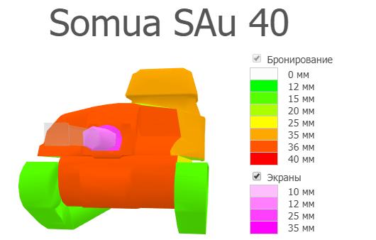 Бронирование Somua SAu 40