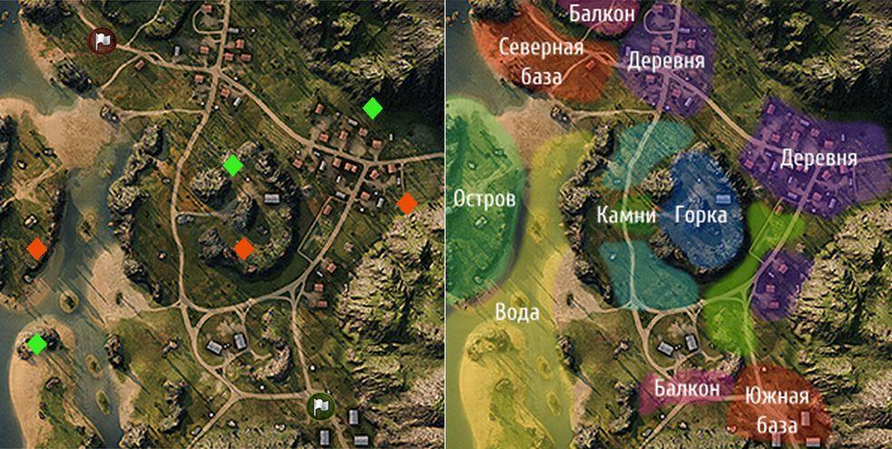 "Карта ""Рудники"" в World of Tanks"